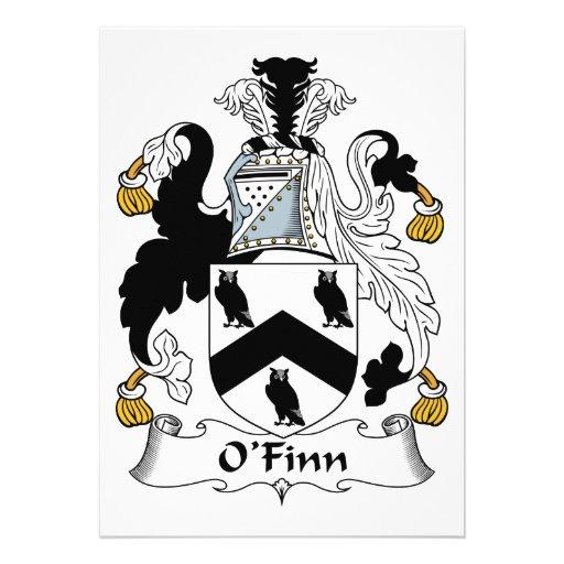 Escudo de la familia de O'Finn Invitacion Personal
