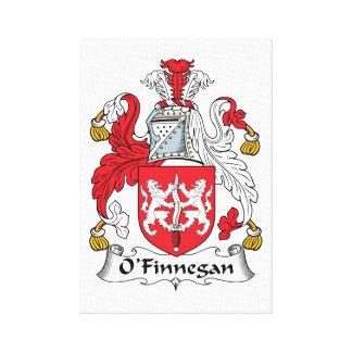 Escudo de la familia de O'Finnegan Impresion De Lienzo
