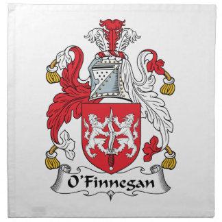 Escudo de la familia de O'Finnegan Servilleta De Papel