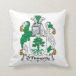Escudo de la familia de O'Finnerty Almohada