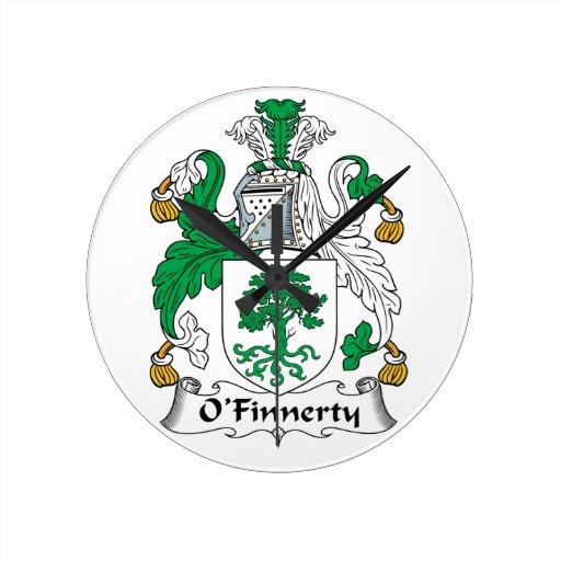 Escudo de la familia de O'Finnerty Relojes