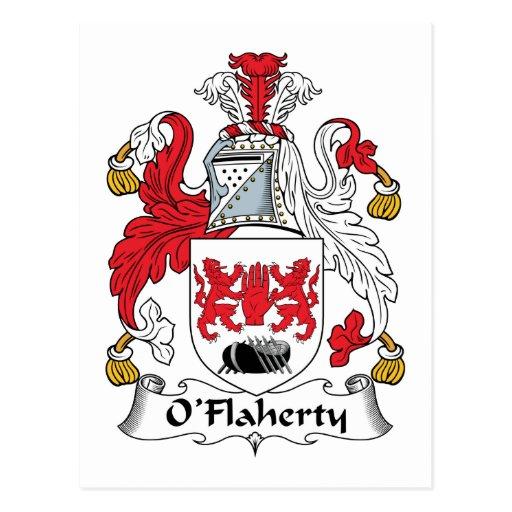 Escudo de la familia de O'Flaherty Postal