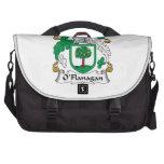 Escudo de la familia de O'Flanagan Bolsa De Ordenador