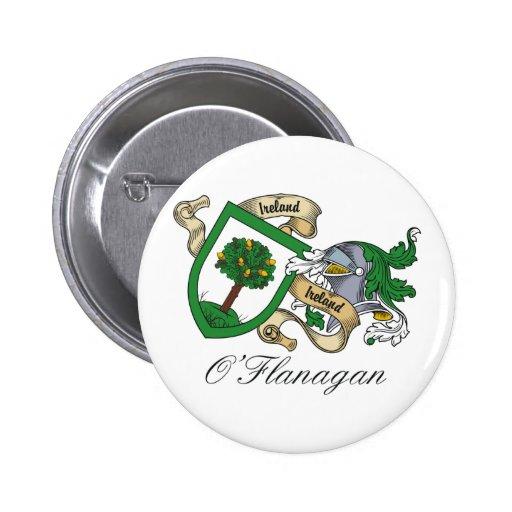 Escudo de la familia de O'Flanagan Pin Redondo 5 Cm