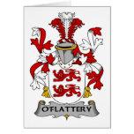 Escudo de la familia de O'Flattery Felicitación
