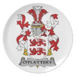 Escudo de la familia de O'Flattery Platos