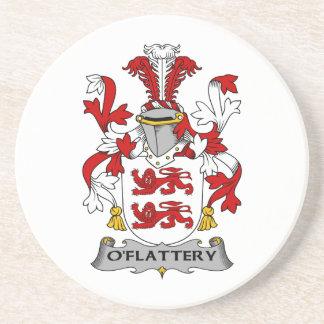 Escudo de la familia de O'Flattery Posavasos Manualidades