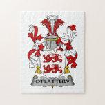 Escudo de la familia de O'Flattery Rompecabeza Con Fotos