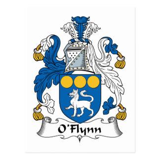 Escudo de la familia de O'Flynn Postal