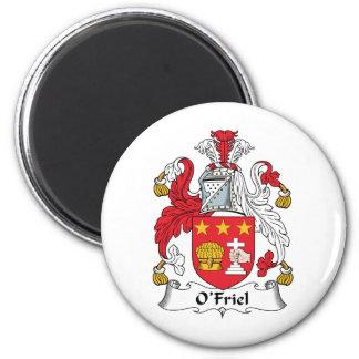 Escudo de la familia de O'Friel Imán Redondo 5 Cm