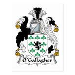Escudo de la familia de O'Gallagher Postal
