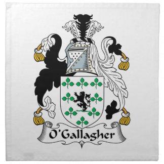 Escudo de la familia de O'Gallagher Servilletas