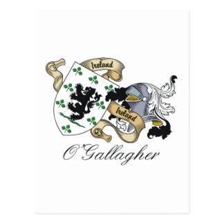 Escudo de la familia de O'Gallagher Tarjeta Postal