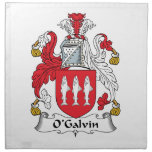 Escudo de la familia de O'Galvin Servilletas De Papel
