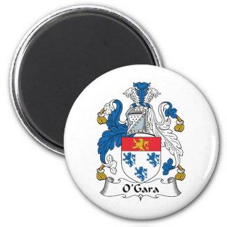 Escudo de la familia de O'Gara Imán Redondo 5 Cm