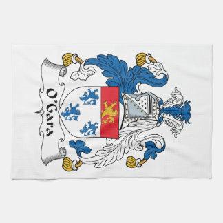 Escudo de la familia de O'Gara Toallas De Mano