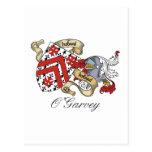 Escudo de la familia de O'Garvey Postal