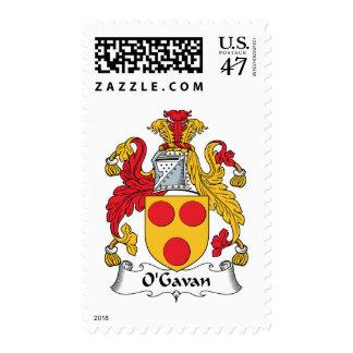 Escudo de la familia de O'Gavan Estampilla