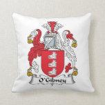 Escudo de la familia de O'Gibney Cojin