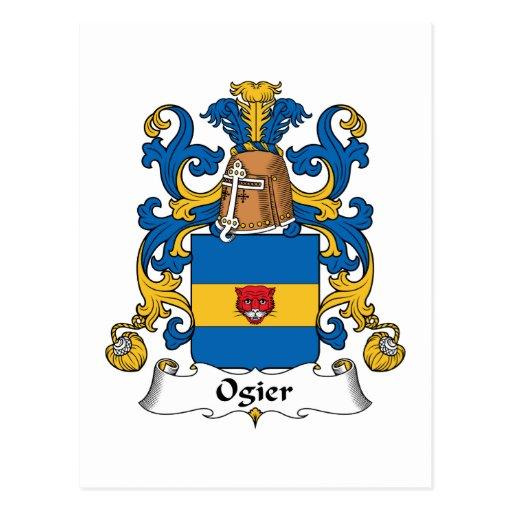 Escudo de la familia de Ogier Postales