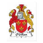 Escudo de la familia de O'Gillan Postal