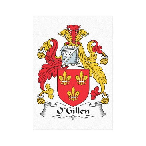 Escudo de la familia de O'Gillen Impresión En Lienzo Estirada