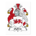Escudo de la familia de Ogilvie Tarjetas Postales