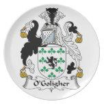 Escudo de la familia de O'Goligher Plato Para Fiesta