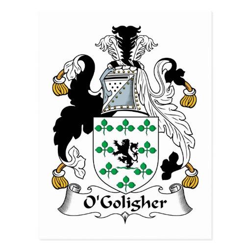 Escudo de la familia de O'Goligher Postales
