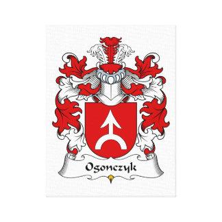 Escudo de la familia de Ogonczyk Lienzo Envuelto Para Galerías