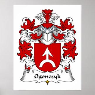 Escudo de la familia de Ogonczyk Poster