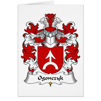 Escudo de la familia de Ogonczyk Tarjeta De Felicitación