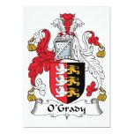 Escudo de la familia de O'Grady Invitaciones Personales