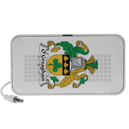 Escudo de la familia de O'Greaghan iPhone Altavoz
