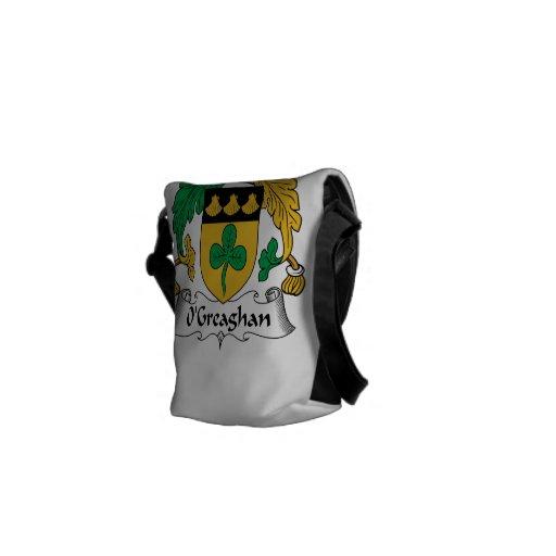 Escudo de la familia de O'Greaghan Bolsa De Mensajeria
