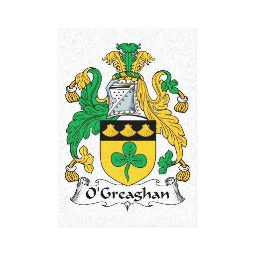 Escudo de la familia de O'Greaghan Impresión En Lienzo Estirada