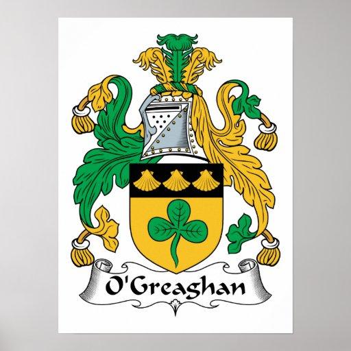 Escudo de la familia de O'Greaghan Impresiones