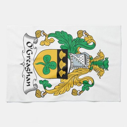 Escudo de la familia de O'Greaghan Toalla De Mano