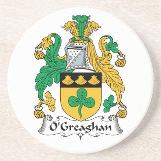 Escudo de la familia de O'Greaghan Posavasos Para Bebidas