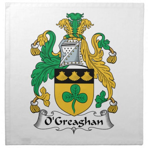 Escudo de la familia de O'Greaghan Servilletas De Papel