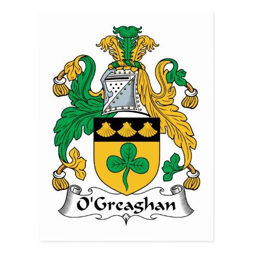 Escudo de la familia de O'Greaghan Postal