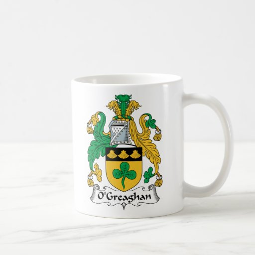 Escudo de la familia de O'Greaghan Tazas