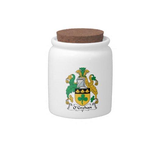 Escudo de la familia de O'Grehan Jarras Para Caramelos