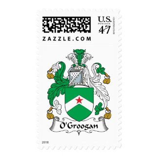 Escudo de la familia de O'Groogan Sellos Postales