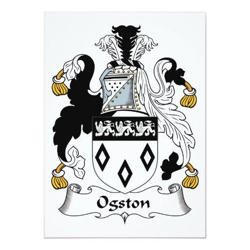 Escudo de la familia de Ogston Invitaciones Personales