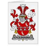 Escudo de la familia de O'Gunning Tarjeton