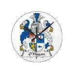 Escudo de la familia de O'Hagan Reloj De Pared