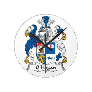 Escudo de la familia de O'Hagan Reloj Redondo Mediano