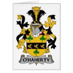 Escudo de la familia de O'Haherty Felicitaciones