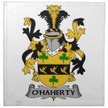 Escudo de la familia de O'Haherty Servilletas Imprimidas